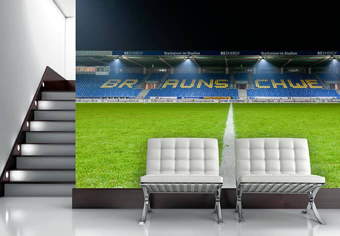 fototapete vliestapete eintracht braunschweig trib ne panorama exklusiv aus der wall art. Black Bedroom Furniture Sets. Home Design Ideas
