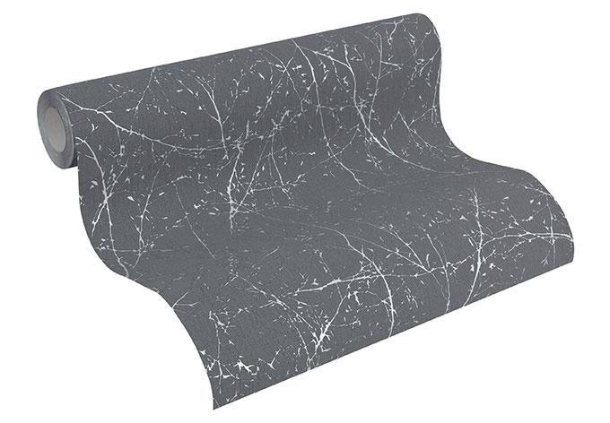 A.S. Création Vliestapete Elegance Tapete mit Ästen grau, metallic