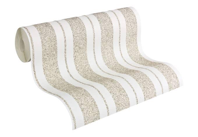 Mustertapete Architects Paper überstreichbare Vliestapete Pigment Quarzit Weiß, überstreichbar