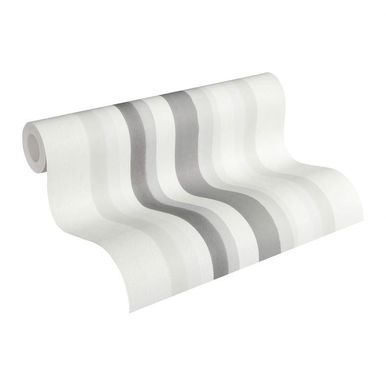 Vliestapete Premium Wall Tapete Streifentapete creme, grau