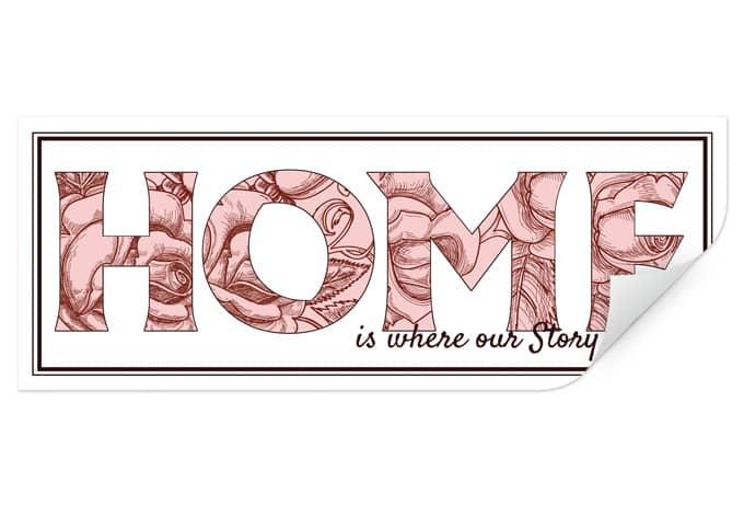 Wallprint W - Home is...