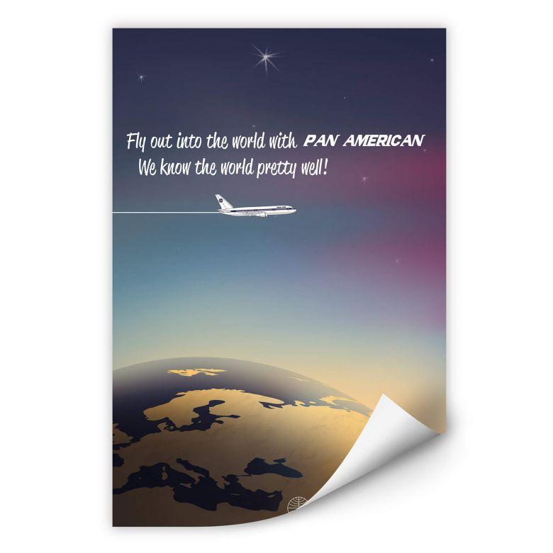 Wallprint PAN AM - Worldwide