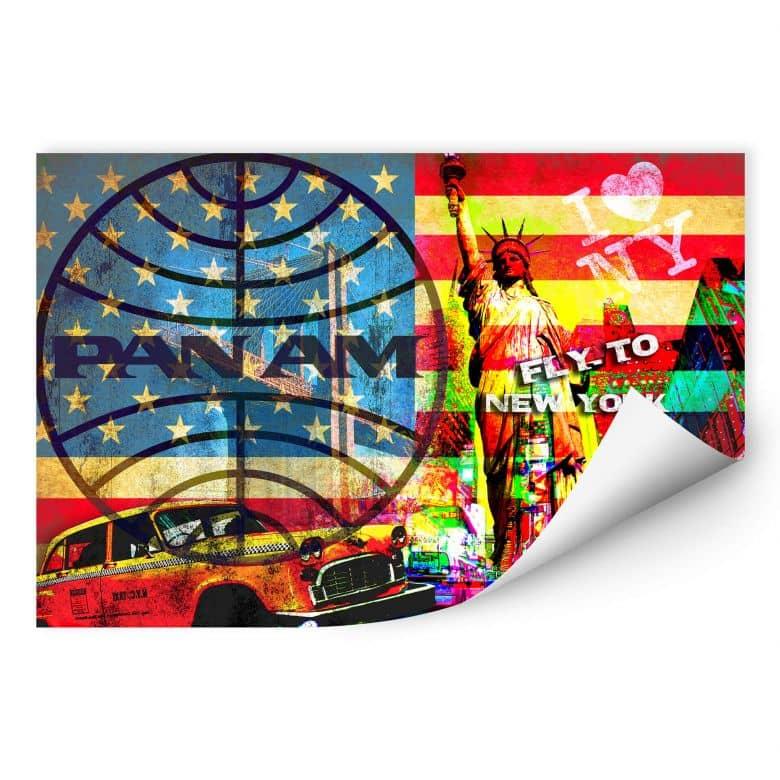 Wallprint PAN AM - New York