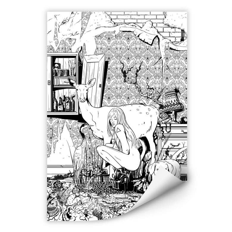 Wallprint Drawstore - In the Livingroom