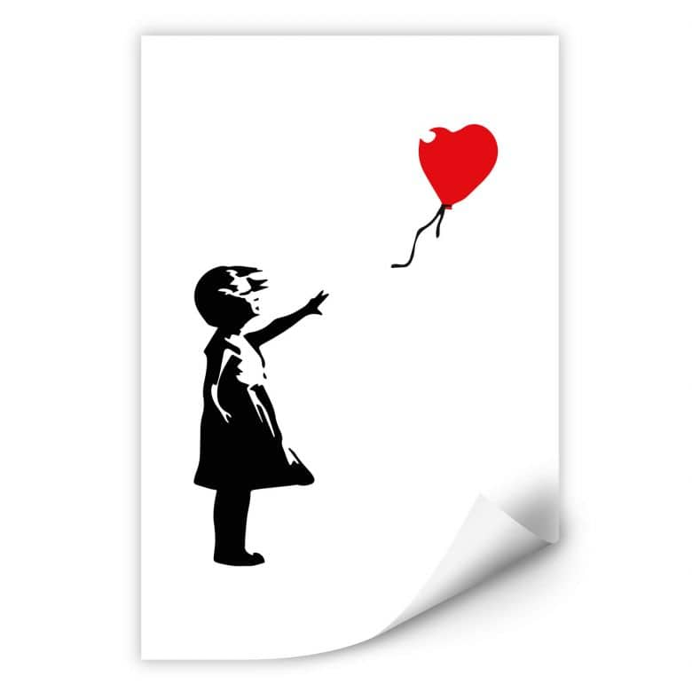 Wallprint Banksy - Girl with the red balloon