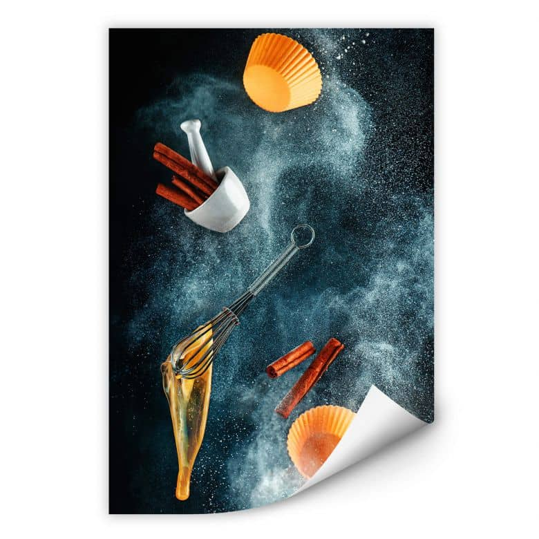 Wallprint Belenko - Kitchen mess: cinnamon cupcake