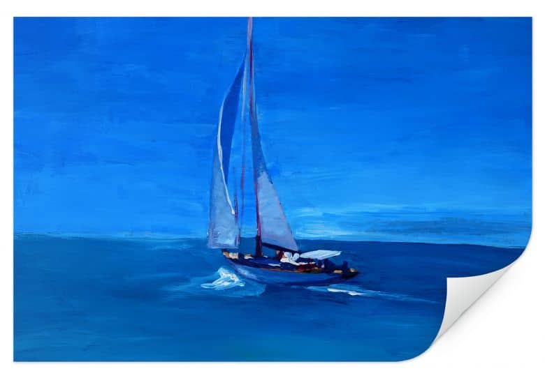 Wallprint Bleichner - Sailing into the Blue