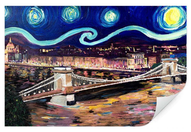 Wallprint Bleichner - Starry Night in Budapest