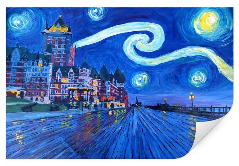 Wallprint Bleichner - Starry Night in Quebec