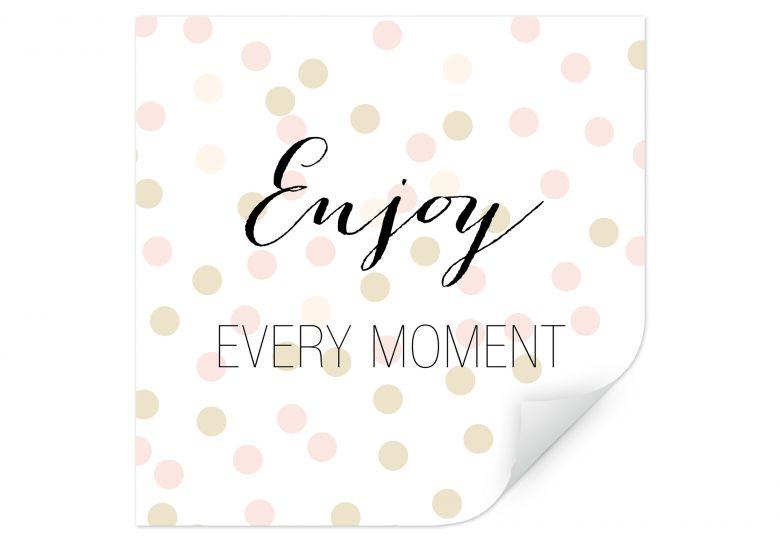Wallprint Confetti & Cream - Enjoy every Moment