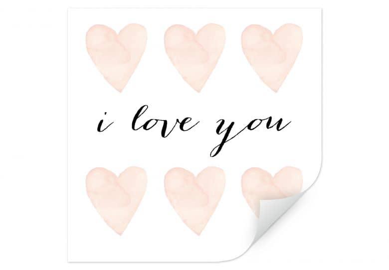 Wallprint Confetti & Cream - I love you