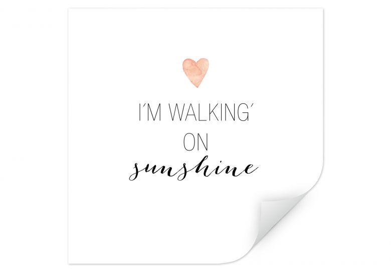 Wallprint Confetti & Cream - I'm walking on sunshine