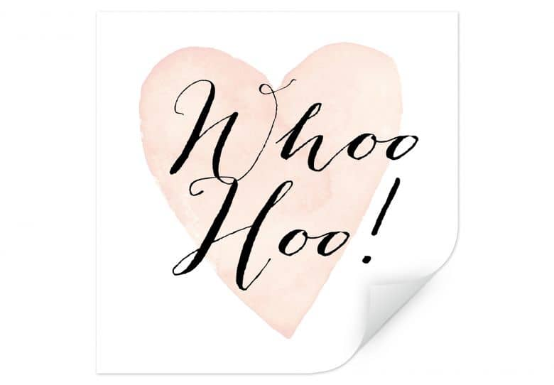 Wallprint Confetti & Cream - Whoo Hoo