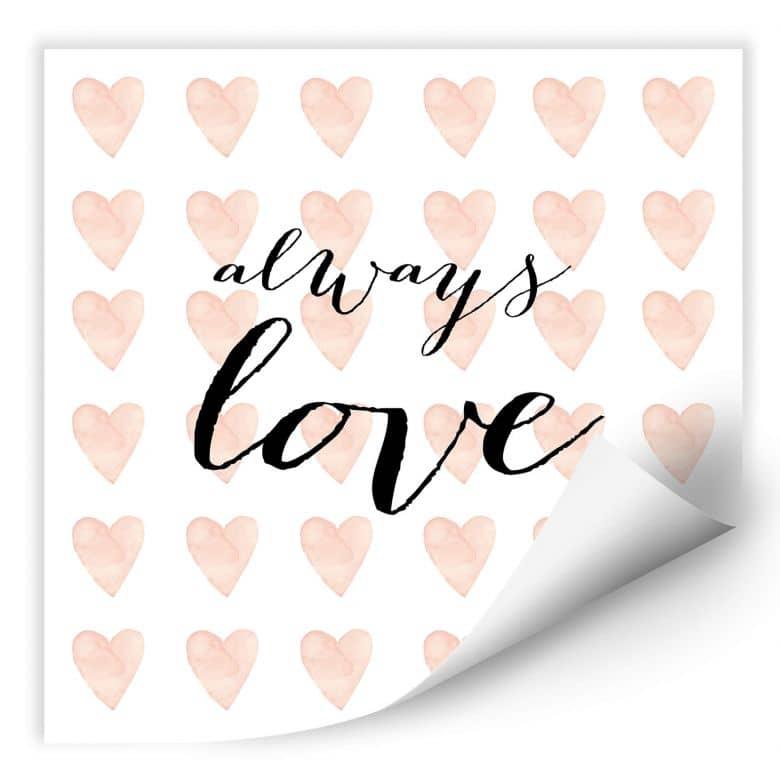 Wallprint Confetti & Cream - Always Love