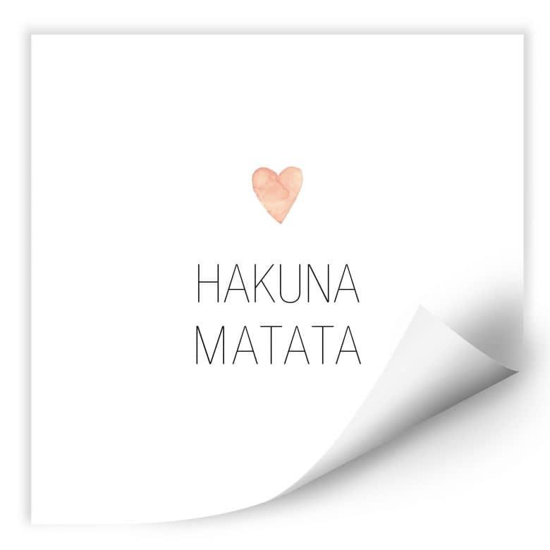 Wallprint Confetti & Cream - Hakuna Matata