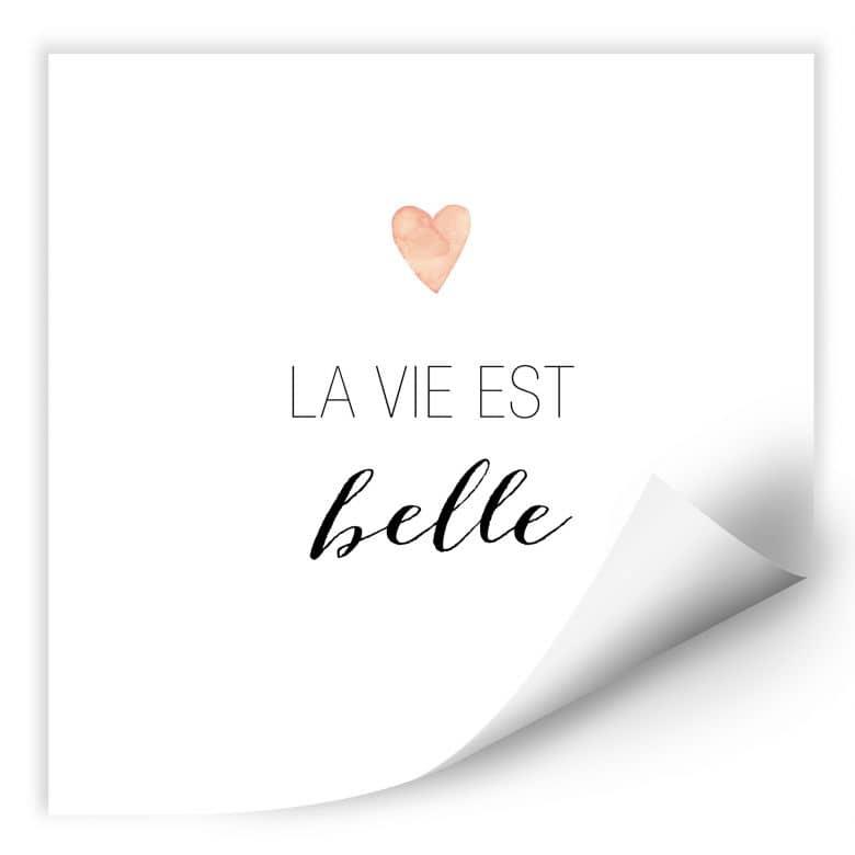 Wallprint Confetti & Cream - La vie est belle