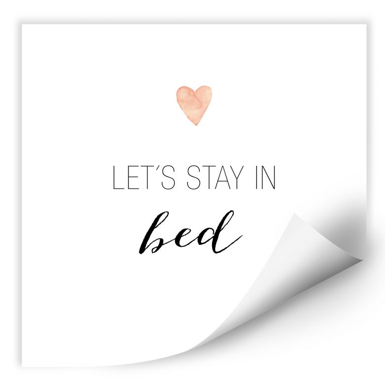 Wallprint Confetti & Cream - Let's stay in bed
