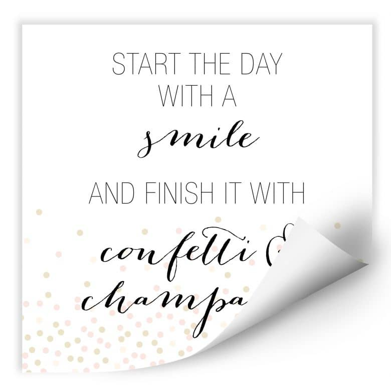 Wallprint Confetti & Cream - Start the day with a smile
