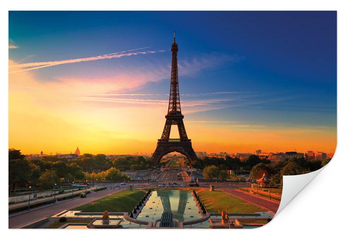 Wallprint W - Eiffeltum im Sonnenuntergang