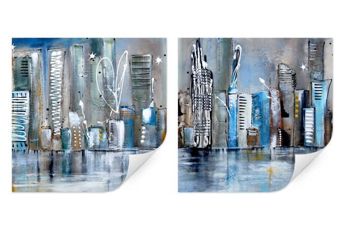 Wallprint W - Fedrau - Skyline (2-teilig)