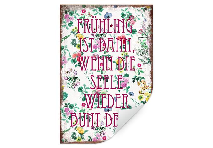Wallprint Frühling ist dann, wenn man wieder bunt denkt