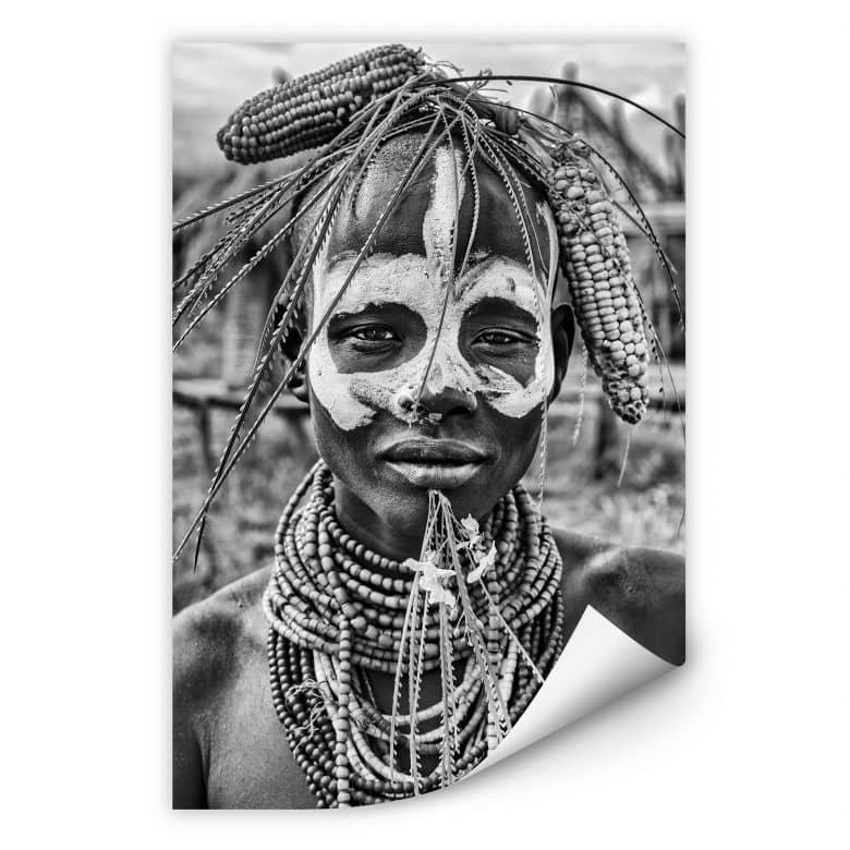 Wallprint Kuesta - Porträt eines äthiopischen Stammes