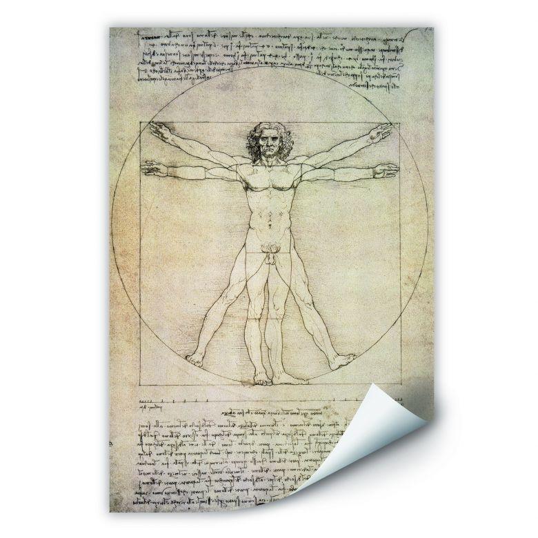 Wallprint W - Da Vinci - Proportionszeichnung