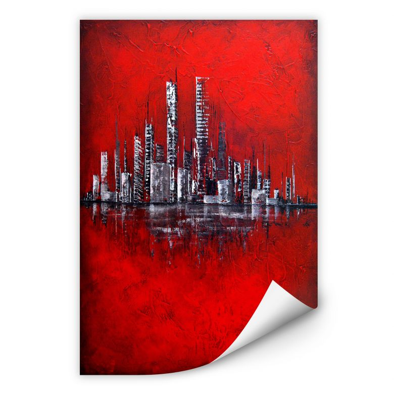 Wallprint W - Fedrau - Rot