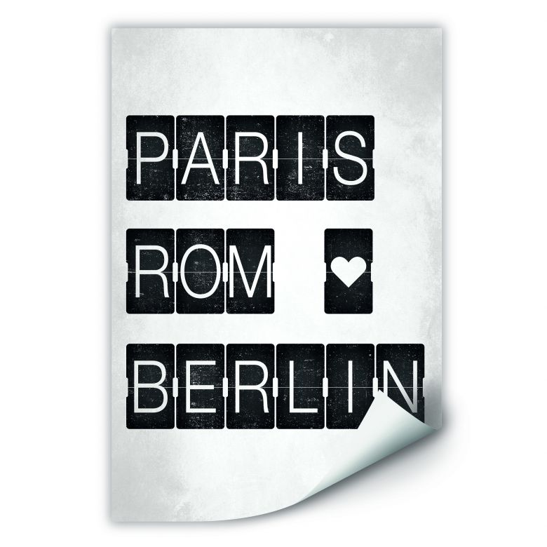 Wallprint W - Paris-Rom-Berlin