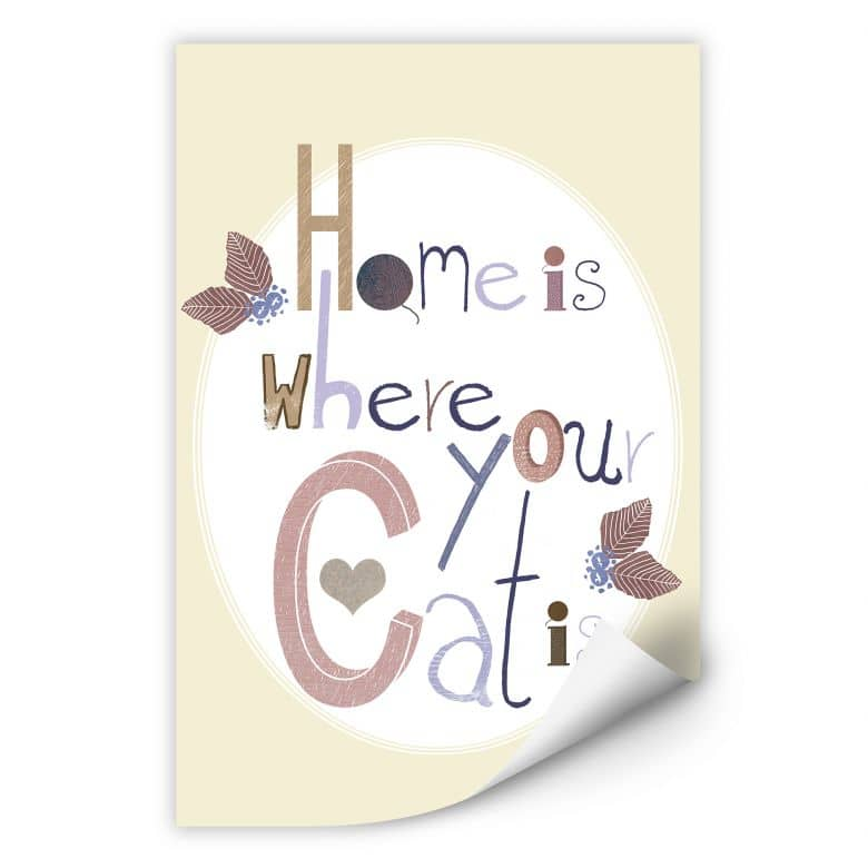 Wallprint Loske - Home is where your Cat is