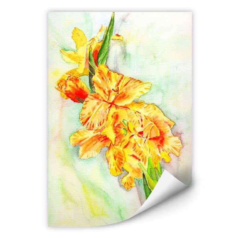 Wallprint Toetzke - Gladiolen Bouquet in Gelb