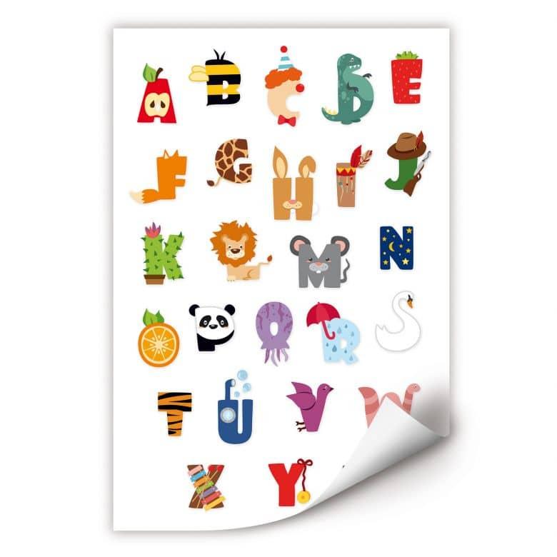 Wallprint Kinder Alphabet