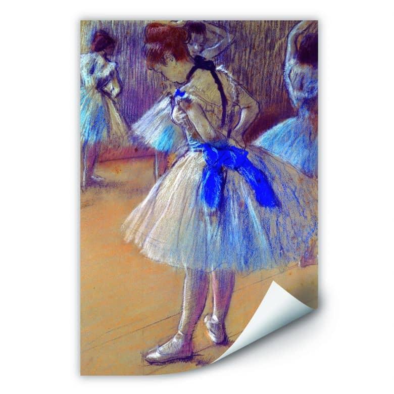 Wallprint Degas - Tänzerin beim Binden der Schleife