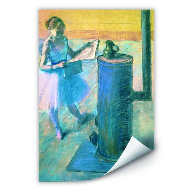 Wallprint Degas - Zeitunglesende Tänzerin