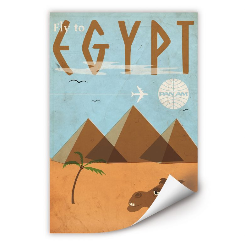 Wallprint PAN AM - Fly to Egypt
