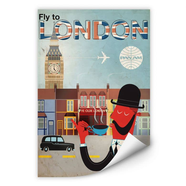 Wallprint PAN AM - Fly to London