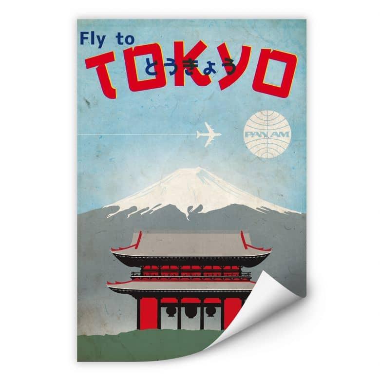 Wallprint PAN AM - Fly to Tokyo
