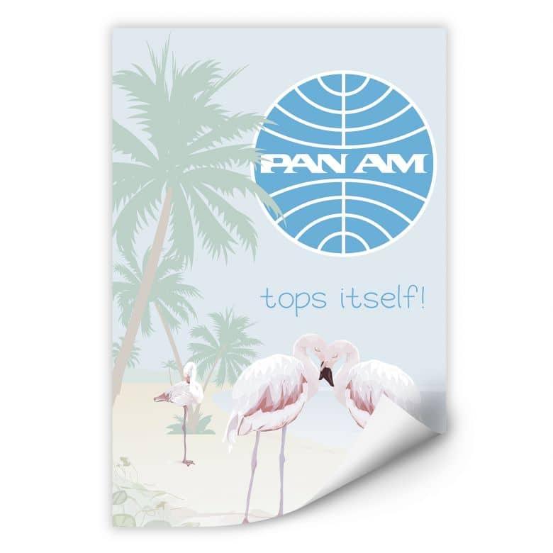 Wallprint PAN AM - Flamingobucht