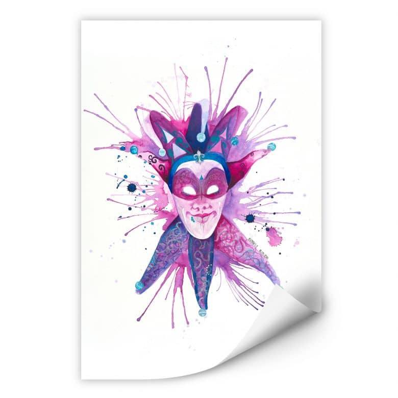 Wallprint Buttafly - Mardi Gras Mask