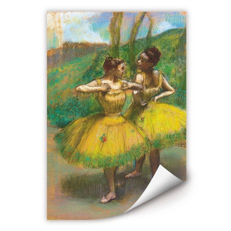Wallprint Degas - Zwei Tänzerinnen in gelb