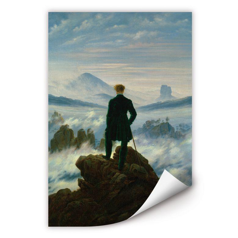 Wallprint Friedrich -  Der Wanderer über dem Nebelmeer