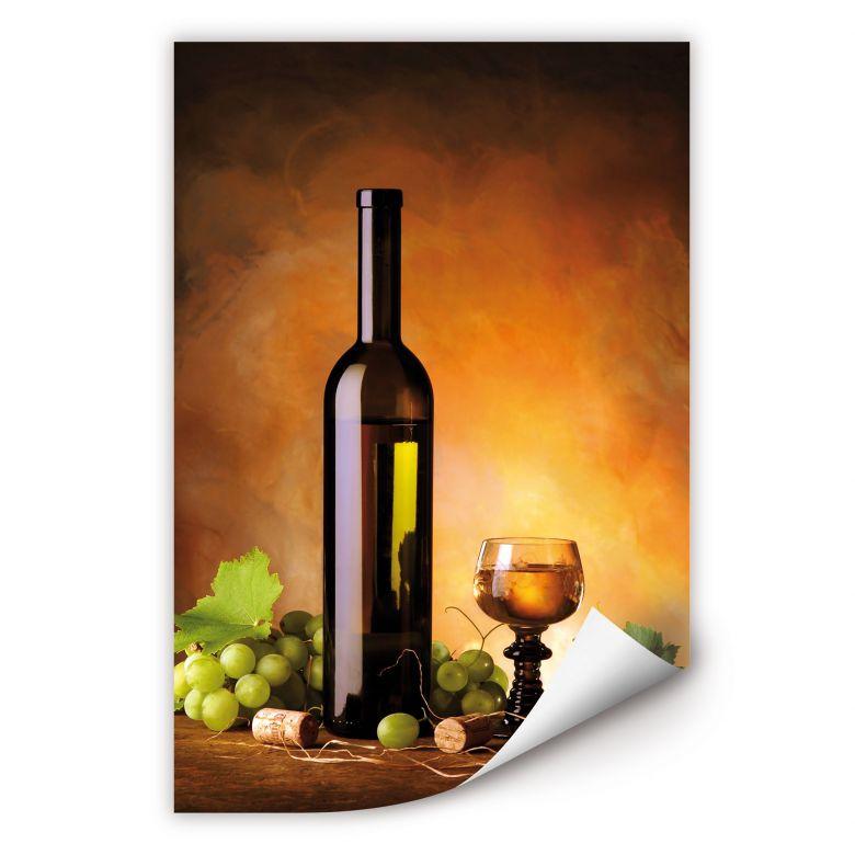 Zelfklevende Poster - Witte Wijn