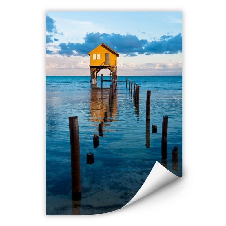 Wallprint W - Haus auf dem Meer