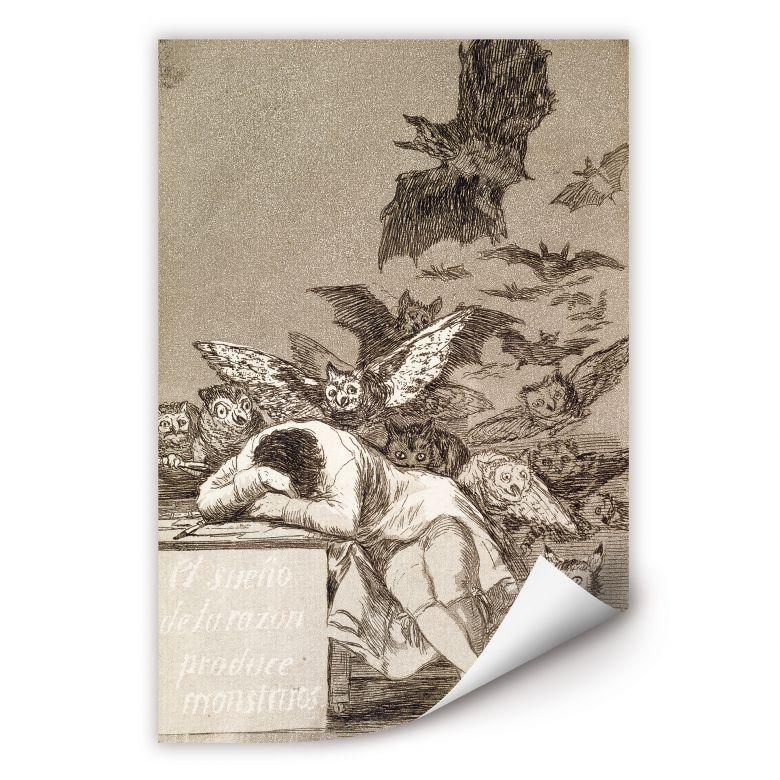 Wallprint de Goya - Der Schlaf der Vernunft gebiert Ungeheuer