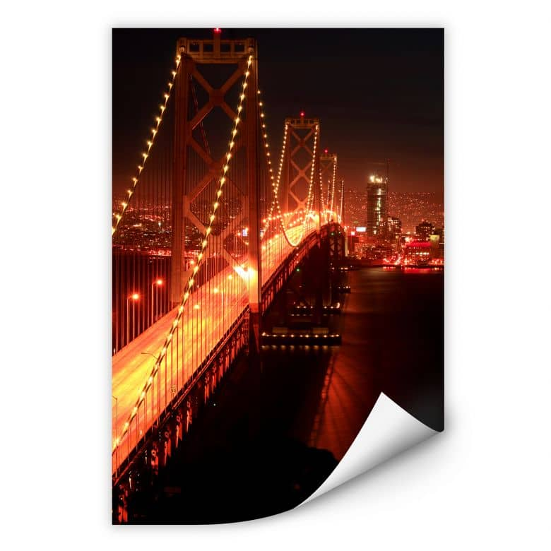 Wallprint W - Lights in San Francisco
