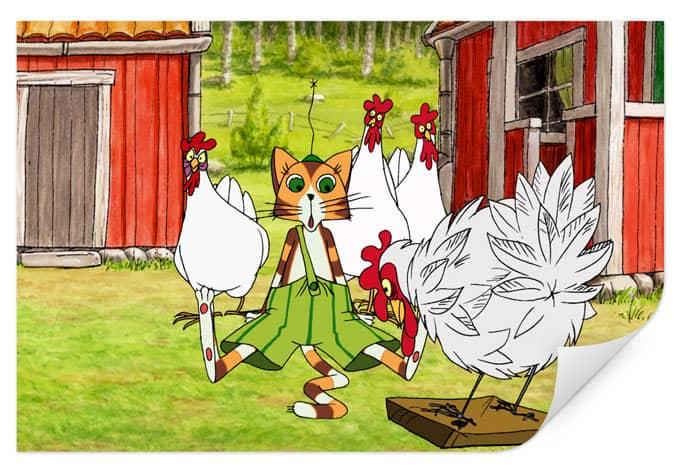 Wallprint W - Pettersson und Findus - Hühnergeschichten