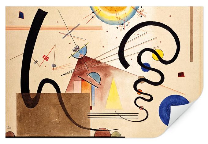 Wallprint Kandinsky - Zwei Bewegungen