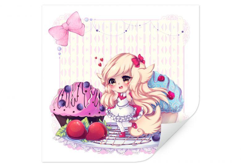 Wallprint La Doll Blanche - Chibi Belle