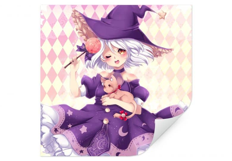 Wallprint La Doll Blanche - Little Witch
