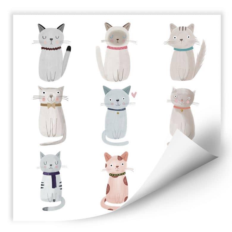 Wallprint Loske - Cat Family